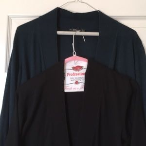 Zara Tops - 2 Zara knit washable navy and sweater